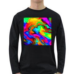Crazy Effects  Mens' Long Sleeve T Shirt (dark Colored) by ImpressiveMoments