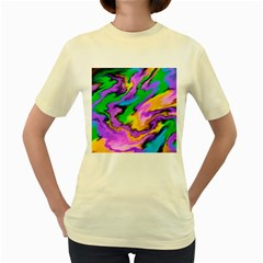 Crazy Effects   Womens  T Shirt (yellow) by ImpressiveMoments