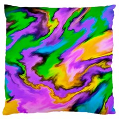Crazy Effects  Large Cushion Case (single Sided)  by ImpressiveMoments