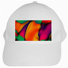 Crazy Effects  White Baseball Cap by ImpressiveMoments