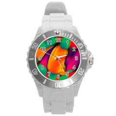 Crazy Effects  Plastic Sport Watch (large) by ImpressiveMoments