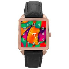 Crazy Effects  Rose Gold Leather Watch  by ImpressiveMoments