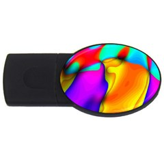 Crazy Effects 4gb Usb Flash Drive (oval) by ImpressiveMoments