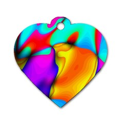 Crazy Effects Dog Tag Heart (Two Sided)