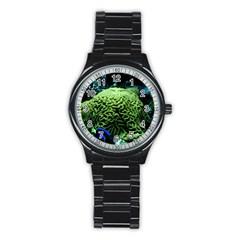 Aquarium Style Sport Metal Watch (black) by WonderfulDreamPicture