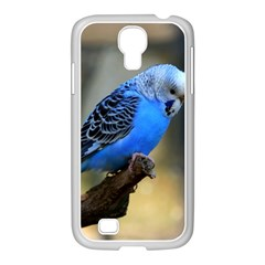 Blue Budgie Samsung Galaxy S4 I9500/ I9505 Case (white) by WonderfulDreamPicture