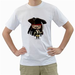 Captain Sparrow Mens  T Shirt (white) by Contest1771913