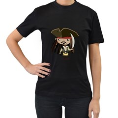 Captain Sparrow Womens' Two Sided T Shirt (black)