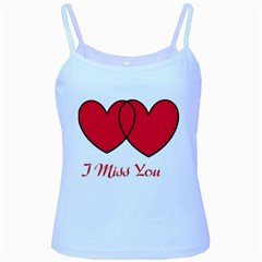I Miss You Baby Blue Spaghetti Tank by WonderfulDreamPicture