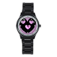Lovely Heart Sport Metal Watch (black) by WonderfulDreamPicture