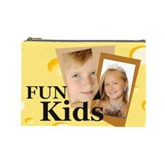 Kids By Kids   Cosmetic Bag (large)   Lufivixdaca3   Www Artscow Com Front