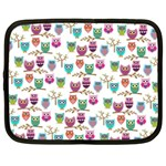 Happy Owls Netbook Sleeve (Large) Front