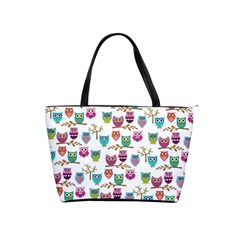 Happy Owls Large Shoulder Bag by Ancello