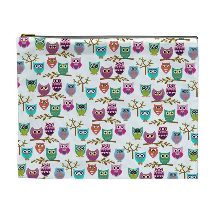 Happy Owls Cosmetic Bag (XL)