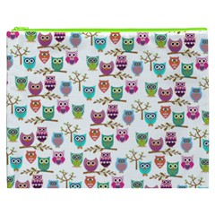Happy Owls Cosmetic Bag (XXXL) by Ancello