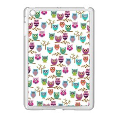 Happy Owls Apple Ipad Mini Case (white) by Ancello