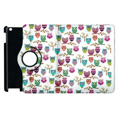Happy Owls Apple Ipad 2 Flip 360 Case by Ancello