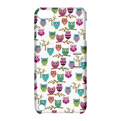 Happy Owls Apple Ipod Touch 5 Hardshell Case With Stand by Ancello