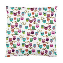 Happy Owls Cushion Case (two Sided)