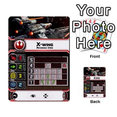 X Wing Maneuver Cards (4 Sets) By Kevin Bélisle   Multi Purpose Cards (rectangle)   Sfx194icn17z   Www Artscow Com Front 1