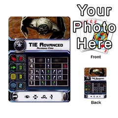 X Wing Maneuver Cards (4 Sets) By Kevin Bélisle   Multi Purpose Cards (rectangle)   Sfx194icn17z   Www Artscow Com Front 16