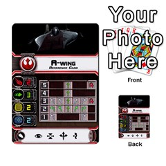 X Wing Maneuver Cards (4 Sets) By Kevin Bélisle   Multi Purpose Cards (rectangle)   Sfx194icn17z   Www Artscow Com Front 18