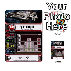 X Wing Maneuver Cards (4 Sets) By Kevin Bélisle   Multi Purpose Cards (rectangle)   Sfx194icn17z   Www Artscow Com Front 26