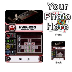 X Wing Maneuver Cards (4 Sets) By Kevin Bélisle   Multi Purpose Cards (rectangle)   Sfx194icn17z   Www Artscow Com Front 44
