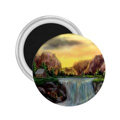 Brentons Waterfall   Ave Hurley   Artrave   2 25  Button Magnet by ArtRave2