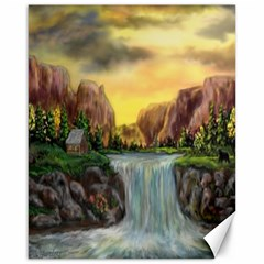 Brentons Waterfall   Ave Hurley   Artrave   Canvas 16  X 20  (unframed) by ArtRave2