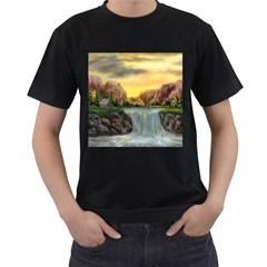 Brentons Waterfall - Ave Hurley - ArtRave - Mens' T-shirt (Black)