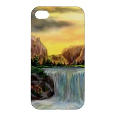 Brentons Waterfall   Ave Hurley   Artrave   Apple Iphone 4/4s Premium Hardshell Case by ArtRave2