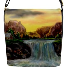 Brentons Waterfall   Ave Hurley   Artrave   Flap Closure Messenger Bag (small) by ArtRave2