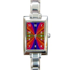 Design Rectangular Italian Charm Watch by Siebenhuehner