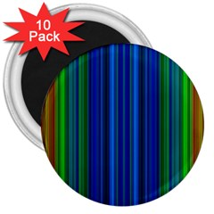 Strips 3  Button Magnet (10 Pack) by Siebenhuehner