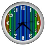 Strips Wall Clock (Silver) Front