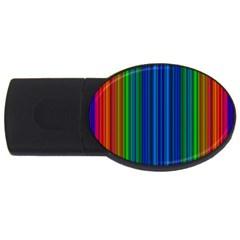 Strips 4gb Usb Flash Drive (oval) by Siebenhuehner