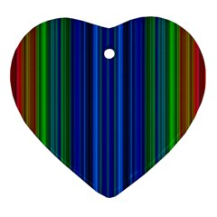 Strips Heart Ornament (two Sides) by Siebenhuehner
