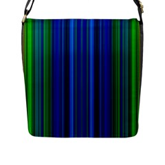 Strips Flap Closure Messenger Bag (large) by Siebenhuehner