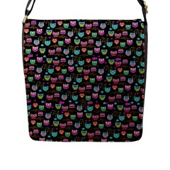Happy Owls Flap Closure Messenger Bag (large)