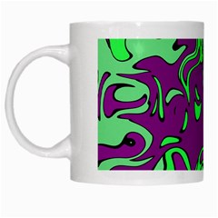 Abstract White Coffee Mug by Siebenhuehner