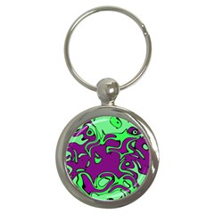 Abstract Key Chain (round) by Siebenhuehner