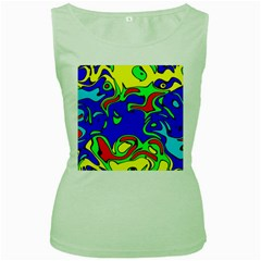Abstract Womens  Tank Top (Green)