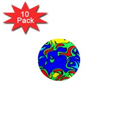 Abstract 1  Mini Button Magnet (10 Pack) by Siebenhuehner