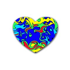 Abstract Drink Coasters 4 Pack (heart)  by Siebenhuehner