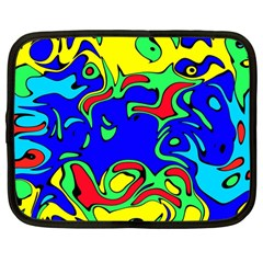 Abstract Netbook Sleeve (large) by Siebenhuehner