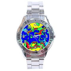 Abstract Stainless Steel Watch by Siebenhuehner