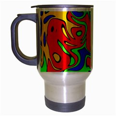 Abstract Travel Mug (silver Gray) by Siebenhuehner