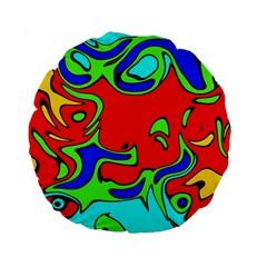 Abstract 15  Premium Round Cushion  by Siebenhuehner