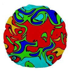 Abstract 18  Premium Round Cushion  by Siebenhuehner